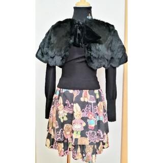 ジェーンマープル(JaneMarple)のジェーンマープル ラビットファーティペット 黒(つけ襟)