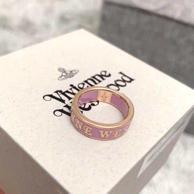 Vivienne Westwood(ヴィヴィアンウエストウッド)の新品未使用品 Vivienne Westwood リング ピンク×ゴールド S レディースのアクセサリー(リング(指輪))の商品写真
