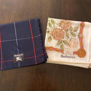 バーバリー(BURBERRY)の新品 バーバリー ハンカチ 2枚セット バーバリーチェック 花柄(ハンカチ)