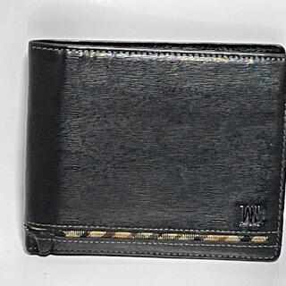 ダックス(DAKS)の商品名  ダックス 二つ折り財布 レザー 黒 札入れ (折り財布)