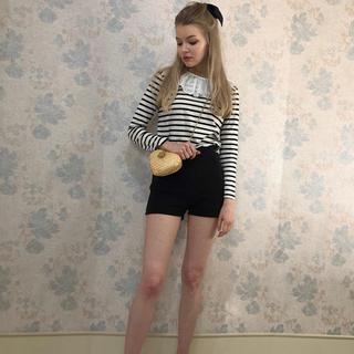 ロキエ(Lochie)のepine rib knit short pants black(ショートパンツ)