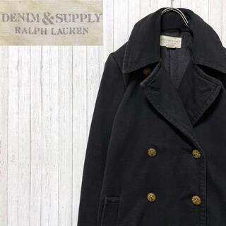 デニムアンドサプライラルフローレン(Denim & Supply Ralph Lauren)のDenim & Supply ラルフローレン ロング ピーコート 古着女子 S(ピーコート)
