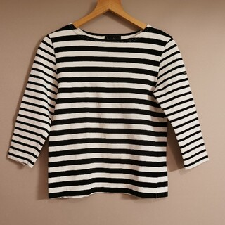 ルミノア(Le Minor)の美品 ルミノア Le minor バスクシャツ ボーダー マリン(カットソー(長袖/七分))
