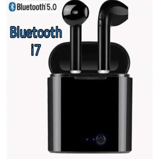 Bluetooth ワイヤレスイヤホン i7s TWS ブラック 黒 iPhon