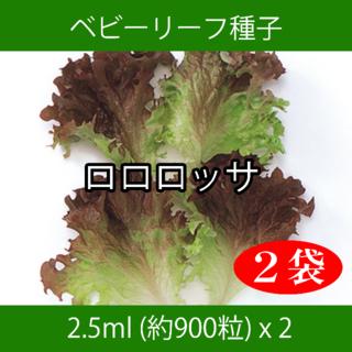 ベビーリーフ種子 B-10 ロロロッサ 2.5ml 約900粒 x 2袋(野菜)