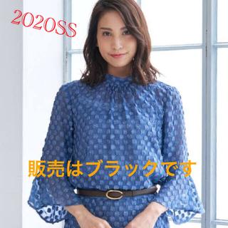 ANAYI - アナイ  ラメカットジャガードスタンドブラウス ブラック38    2020SS