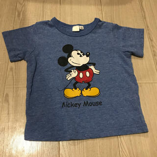 Disney - 【美品】半袖カットソー・Tシャツ/ディズニー・ミッキーマウス・ブルー・半袖