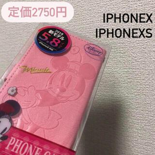 ディズニー(Disney)の新品未開封 ミニー iPhoneX/XS 手帳型ケース ディズニー(iPhoneケース)