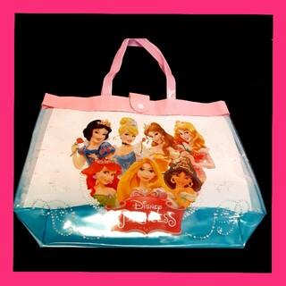 ディズニー(Disney)のプールバッグ ディズニー ディズニープリンセス ビニールバック クリアバック(マリン/スイミング)
