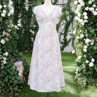 snidel - Lace Trimmed Floral Dress【新色】