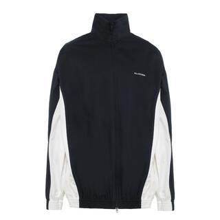 バレンシアガ(Balenciaga)の新品正規 バレンシアガ ブルゾン ジャケット ブラック×ホワイト 44(ブルゾン)
