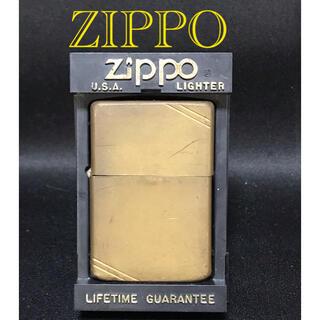 ジッポー(ZIPPO)のZIPPO ジッポー  ソリッドブラス   1988年製  ヴィンテージ(タバコグッズ)
