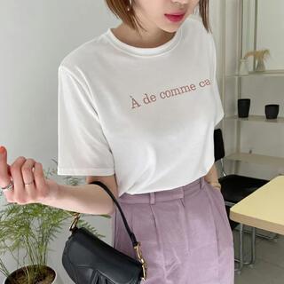 ディーホリック(dholic)の新品未使用 レタリングラウンドTシャツ(Tシャツ(半袖/袖なし))