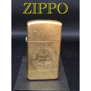 ジッポー(ZIPPO)のZIPPO ジッポー  スリム   1990年製 グアム インサイド金色(タバコグッズ)