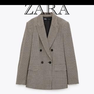 ザラ(ZARA)のZARA ダブルブレストジャケット(テーラードジャケット)