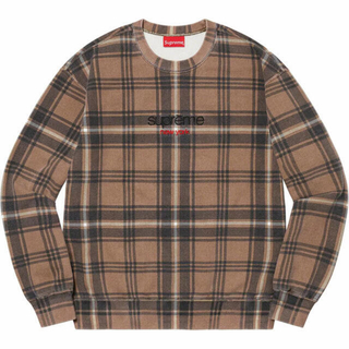 Supreme - supreme plaid crewneck プレイド クルーネック