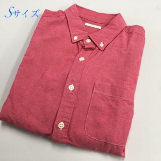 ジーユー(GU)のピンクシャツ◆GU◆シンプル◆七分袖◆デニム地◆Sサイズ◆試着程度のみ翔(Tシャツ/カットソー(七分/長袖))