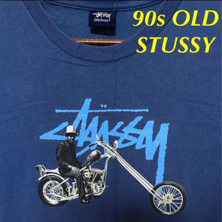 STUSSY - 90s OLD STUSSY Mexico製フォトプリント バイク ステューシー