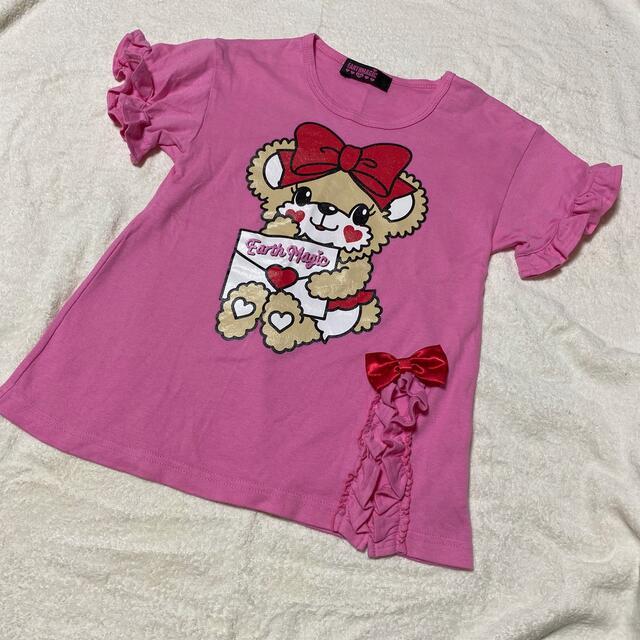 EARTHMAGIC(アースマジック)のアースマジック Tシャツ マフィー チュニック キッズ/ベビー/マタニティのキッズ服女の子用(90cm~)(Tシャツ/カットソー)の商品写真