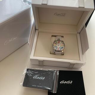 ガガミラノ(GaGa MILANO)のGAGAミラノ時計ホワイト40MM(腕時計)
