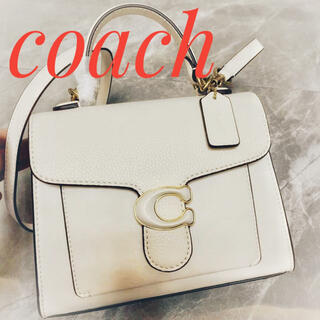COACH - 新品正規品☆coach☆タビートップハンドル21☆レザー☆ハンドバッグ☆ホワイト
