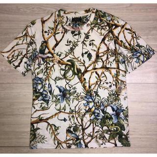 ZARA - ZARA ザラ ボタニカル パイソン 総柄 Tシャツ