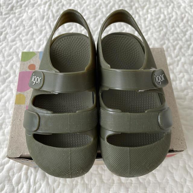 美品ˊ˗ igor イゴール 子供用サンダル キッズ/ベビー/マタニティのベビー靴/シューズ(~14cm)(サンダル)の商品写真