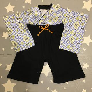 ベビー 袴 ロンパース 着物 90cm(和服/着物)