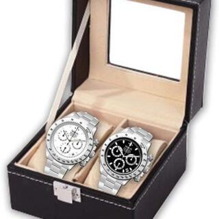 腕時計ケース レザー ディスプレイケース 時計 コレクション ディスプレイ 2本