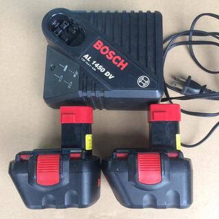 ボッシュ(BOSCH)のBOSCH 電動ドリル インパクト 充電器 バッテリー 2個 12v(その他)