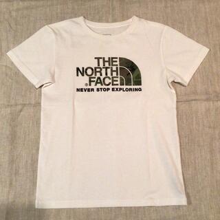 THE NORTH FACE - ノースフェイス ショートスリーブ カモロゴティー Tシャツ キッズ 150 白