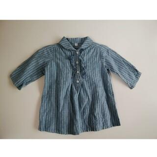 ムジルシリョウヒン(MUJI (無印良品))の無印良品 90 チェックシャツ 七分袖(ブラウス)