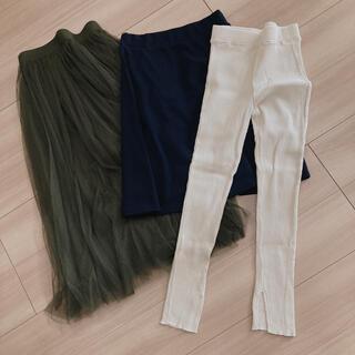 ジーユー(GU)の洋服3点セット(レギンス/スパッツ)