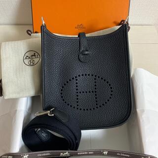エルメス(Hermes)の保護シール付 新品 エブリンtpm ブラック ミニエブリン シルバー金具(ショルダーバッグ)