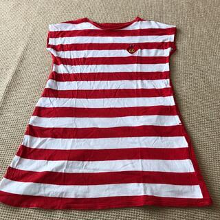 グラニフ(Design Tshirts Store graniph)のgraniph はらぺこあおむし 130㎝ ワンピース Tシャツ 女の子(ワンピース)
