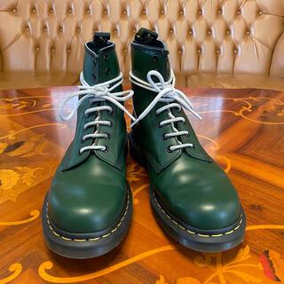 Dr.Martens - 美品 ドクターマーチン 8ホール ブーツ UK7 グリーン 緑 パンク バイク