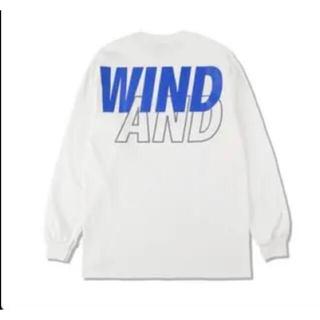 【L】SEA L/S T-SHIRT / White-Blue