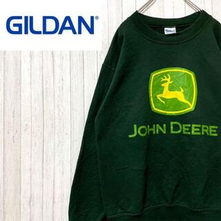 ギルタン(GILDAN)のギルダン トレーナー スウェット ジョンディアー グリーン ビッグロゴ S(スウェット)