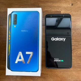 Galaxy - Galaxy A7 楽天モバイル 新品同様 ブルー samsun