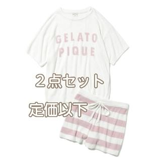 gelato pique - 新品 ジェラートピケ プルオーバー & パンツ 上下セット ピンク