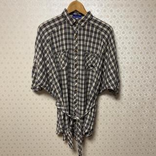 バーバリーブルーレーベル(BURBERRY BLUE LABEL)の❤️バーバリーブルーレーベル❤️レディース❤️半袖ふんわりビッグシャツ(シャツ/ブラウス(半袖/袖なし))