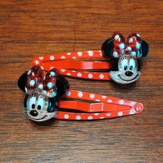 ディズニー(Disney)のディズニーリゾート購入 ミニーちゃんヘアピン(その他)