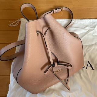 Furla - フルラ FURLA ピンクベージュ 巾着型バッグ ショルダーバッグ