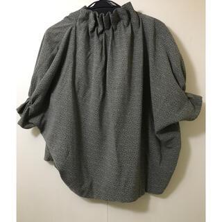 エイソス(asos)のASOS ペーパーバッグ ジャガードブラウス(シャツ/ブラウス(半袖/袖なし))