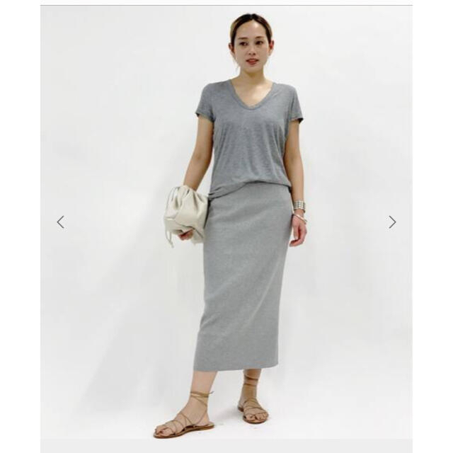 L'Appartement DEUXIEME CLASSE(アパルトモンドゥーズィエムクラス)の専用ですAP STUDIO /エーピーストゥーデイオ ☆リブスカート ☆ブラック レディースのスカート(ロングスカート)の商品写真