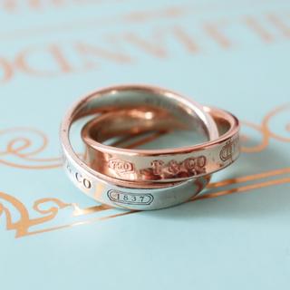 Tiffany & Co. - ティファニー 1837 k18 sv925 コンビ リング tiffany