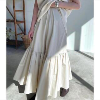 新品 CLANE ボリュームテーラードマキシスカート