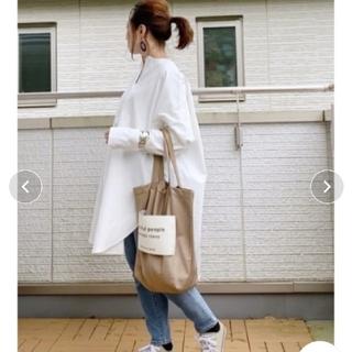 IENA - 【La-gemme】ビッグシャツ ホワイト