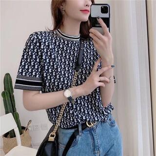 限定超美品 Dior  ニット半袖Tシャツ