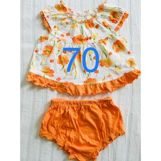 ニシマツヤ(西松屋)のオレンジのセットアップ 70(その他)